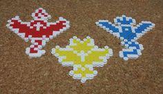 Pokemon Go Team Logos   Team Valor, Team Mystic, Team Instinct   Perler art   geekery, art, collectibles, pokemon