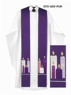 Advent and Lenten Candles Stole
