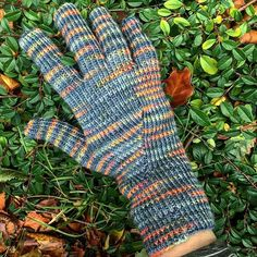 After promising my husband I would knit him some gloves for the last 2 winter, I finally managed to start ! One more to go #thewoolkitchen #groundcontrol #knittedgloves
