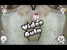 BLUSA BRANCA DE NEVE( croche de grampo) - YouTube