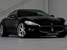 Maserati+Granturismo+w+Custom+Wheels
