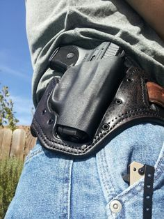 Leather and Kydex Belt Slide Holster from AWW Tactical Systems