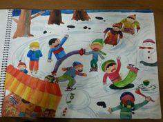 Winter Art, Painting For Kids, Kids Rugs, Inspiration, Children, Decor, Winter, Decoration, Biblical Inspiration