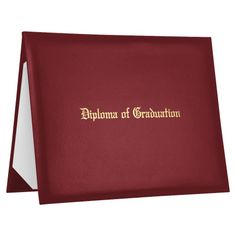 """Maroon Imprinted Diploma of Graduation Cover 
