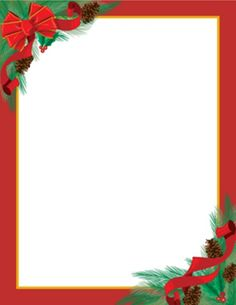 Free Printable Stationery   FREE Printable Unlined Christmas ...
