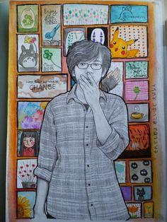 Megane~kun.. (Art by Clover Yuu) #watercolour