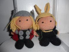 Loki And Thor Crochet Dolls. @Heather Pence we need these!!!