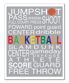 Look at this Gray 'Basketball' Print on #zulily today!