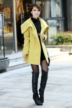 Cheap long section candy lapel solid color waist trench coat jacket in women outcoat from women clothing on sightface.com