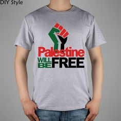 PALESTINE WILL FREE Palestinian men short sleeve T-shirt  2078 new arrival Fashion Brand t shirt men high quality
