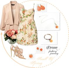 """""""Dream Fashion Jewelry Collection - Smell Of Spring - Pink"""" by dreamfashionjewelry ❤ liked on Polyvore"""