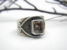 Rutilated Quartz Ring in Sterling Silver by nikiforosnelly on Etsy, $90.00