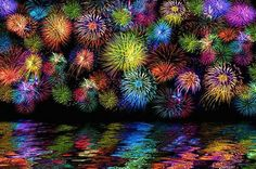 chalk pastel fireworks on a reflecting lake Kratz Kunst, Fireworks Art, Art Tumblr, Scratch Art, Ecole Art, School Art Projects, Chalk Pastels, Chalk Pastel Art, Art Lesson Plans