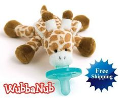 Awww, so cute    New WUBBANUB Infant Baby Soothie PACIFIER Giraffe