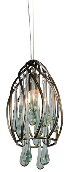 Contemporary Varaluz Area 51 Recycled Glass Mini Pendant Light - contemporary - pendant lighting - Lamps Plus Mini Pendant Lights, Pendant Lighting, Light Pendant, Chandelier, Contemporary Pendant Lights, Area 51, Forged Steel, Drum Shade, Recycled Glass