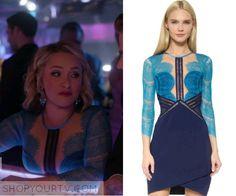 Nashville: Season 4 Episode 19 Juliette's Blue Cut Out Lace Dress