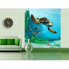 Disney Finding Nemo in The Ocean Wall Mural - Kids Wall Murals, Murals For Kids, Door Murals, Disney Mural, Finding Nemo, Disney Rooms, Blue Back, Playroom Decor, Disney Movies