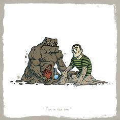 Little friends: Clayface and Sandman by Rawlsy.