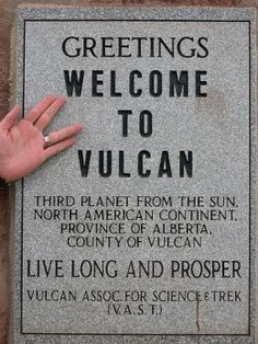 Vulcan, Alberta, Canada is a place for a lot of fun, and a lot of Star Trek fans. This video shows a bit of what the town has to offer, other then the Vulcan. Star Trek Tos, Star Wars, Starship Enterprise, Star Trek Universe, Roadside Attractions, Geek Out, Live Long, Nerdy, Geek Stuff