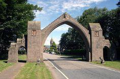 dalhousie arch in Edzell Scotland - On the way down from Aberdene