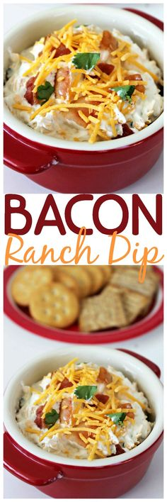 Crispy bacon, cheddar cheese, and ranch come together in this super easy 5 ingredient dip.