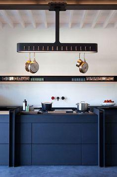 navy blue contemporary kitchen