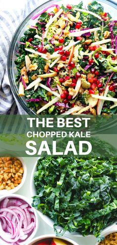 Superfood Salad, Superfood Recipes, Kale Recipes, Kale Salad, Quinoa Salad, Delicious Vegan Recipes, Vegetarian Recipes, Healthy Recipes, Kale Sprouts