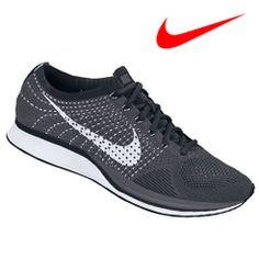 男鞋 $9900 2013SS【NIKE】ナイキFLYKNITRACER【フライニットレーサー】(ダークグレー/ホワイト/ブラック)ランニングシューズ