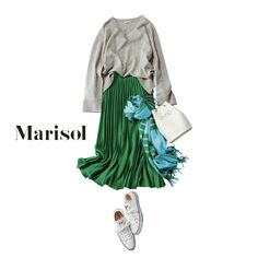 秋の行楽日和は、元気カラーの旬スカートで公園デートを楽しんで!Marisol ONLINE|女っぷり上々!40代をもっとキレイに。