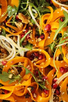 http://www.2uidea.com/category/Spiralizer/ Pear, Pomegranate and Roasted Butternut Squash Salad with Maple Sesame Vinaigrette