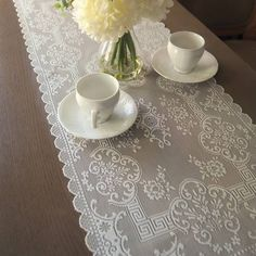 Product Image for Downton Abbey® Grantham Collection Lace Table Runner 1 out of 2