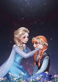 Frozen - Queen Elsa x Princess Anna - Elsanna