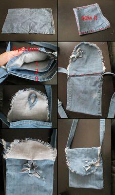 old jeans handbag DIY