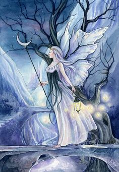 Print   archival quality The Path   fairy by Kuoma on Etsy