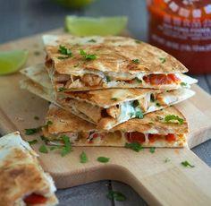 Key-West-Spicy-Chicken-Quesadillas Recipe - RecipeChart.com #Delicious #Dinner #GlutenFree #Lunch