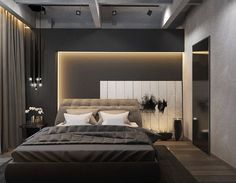 creative lighting effect at bedroom