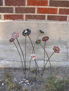 Red+Brown+Metal+Art+Flower+Industrial+Decor+for+by+IndustrialBloom,+$24.00