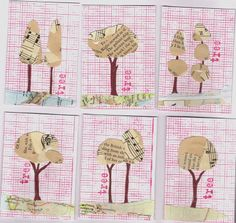 recycled tree atcs ... cool idea