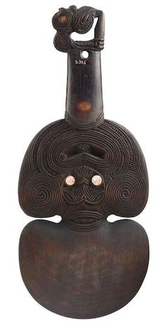 Antique Maori Wahaika and Maori Kotiate are both excellent and extremely collectible examples of Maori Art. There are however contemporary versions of this form of Polynesian art. Polynesian Art, Polynesian Designs, Maori Designs, Abstract Sculpture, Wood Sculpture, Bronze Sculpture, Maori Tribe, Maori Patterns, Maori Art