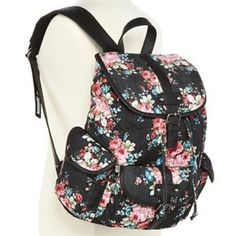 Mary Kate and Ashley Floral Backpack Floral Backpack from Olsenboye (Mary Kate and Ashley's line) Super cute! I'm willing to negotiate, feel free to leave an offer! :) Olsenboye Bags Backpacks