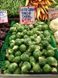 STRANGE FOOD ITEMS - FARM MARKETS SELLING BRUSSELS SPROUTS - LABELS THEM LITTLE BALLS OF DEATH!