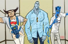 Hilarious picture of if the Hangover happened in the world of the X-Men.