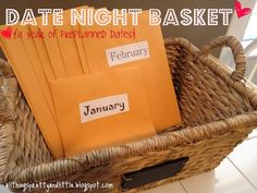 pretty little things: Date Night Basket: A year of pre-planned dates.