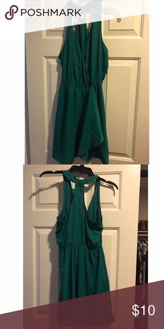 Forever 21 green flowy short dress Green flowy dress from forever 21, never been worn Forever 21 Dresses Midi