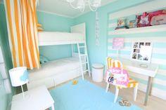Bright modern striped children's bedroom