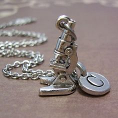 Microscope Necklace For A Laboratory Scientist