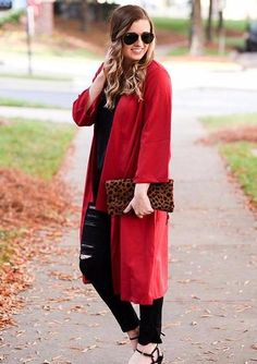 16a54cc69c Burgundy Roll Up Sleeve Open Front Oversized Coat