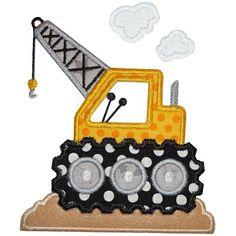 Construction Crane Applique 5731