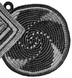 Crochet+Pot+Holder+Pattern | This pattern uses American crochet terms. US single crochet = UK ...