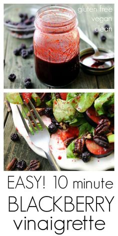 Easy Blackberry Vinaigrette   eat healthy eat happy